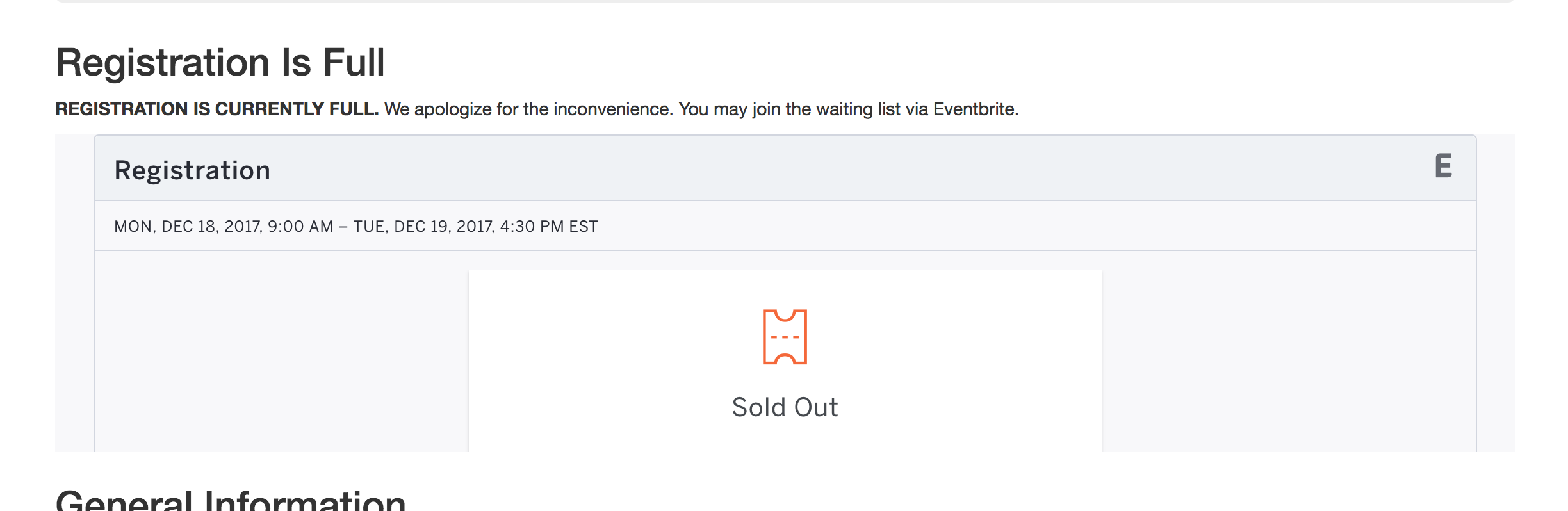 The Eventbrite widget on our software carpentry website
